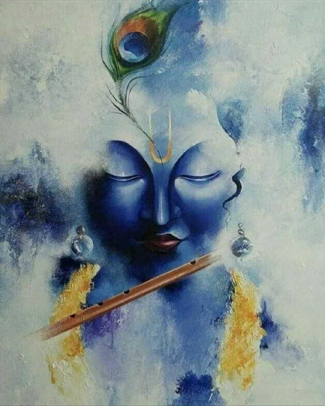 Shri Krishna Lord Art Painting - PhotosBin